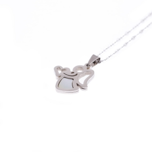 Collier - petit ange - Perla Madre - Stainless Steel